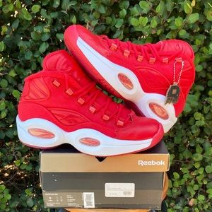 Reebok Allen Iverson Question #3 Mid Red Canvas 9